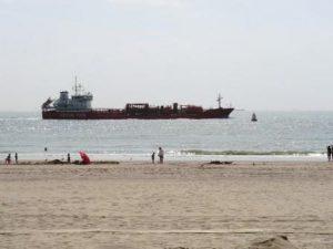 scheepvaart bij zoutelande